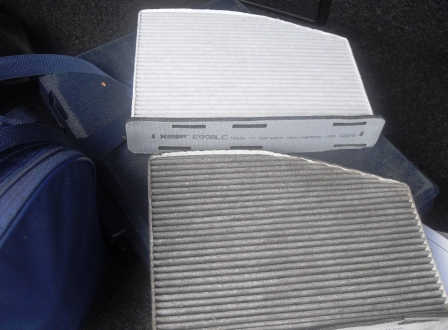 Замена салонного фильтра Volkswagen Golf V