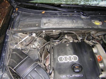 Снимаем уплотнитель капота Audi A4 B6