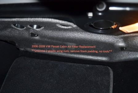 Откручиваем защиту салонного фильтра Volkswagen Passat B6