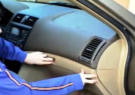 Открываем бардачок салонного фильтра Honda Accord VII