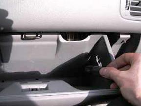 Открываем бардачок Honda CRV II