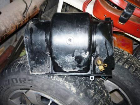 Снимаем переднюю часть с вентилятором ВАЗ 2110, 2111, 2112