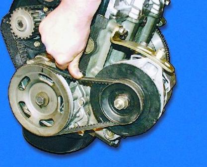 Проверяем натяжение ремня генератора ВАЗ 2108, 2109, 21099