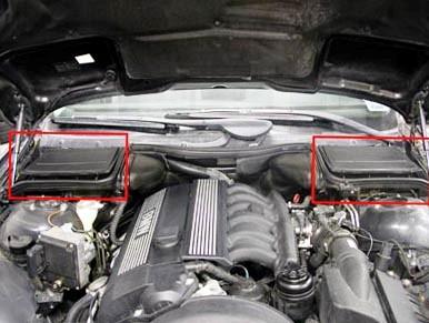 Расположение салонного фильтра BMW E39
