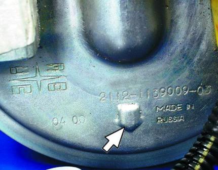 Правильное расположение бензонасоса ВАЗ 2110, 2111, 2112