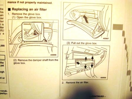 Инструкция по замене салонного фильтра Subaru Forester III