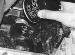 Снимаем масляный фильтр Chevrolet Lanos
