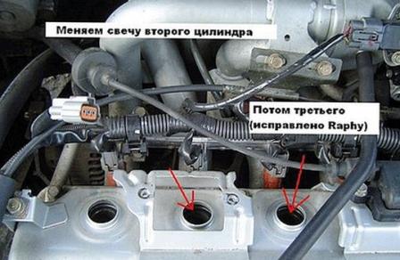 Выкручиваем катушку зажигания Mitsubishi Lancer IX