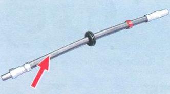 Перед установкой выпрямите тормозной шланг ВАЗ 2108, 2109, 21099
