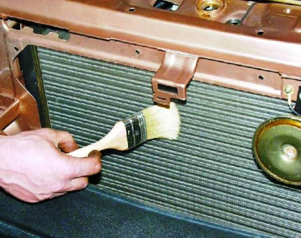 Чистим соты радиатора ВАЗ 2108, 2109, 21099