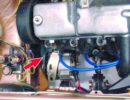 Расположение ремня генератора ВАЗ 2108, 2109, 21099