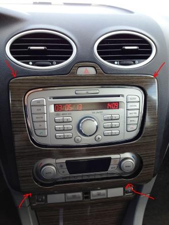 Поддеваем центральную консоль Ford Focus 2