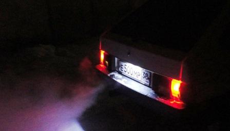 Снятие и замена лампы подсветки номера ВАЗ 2108, 2109, 21099