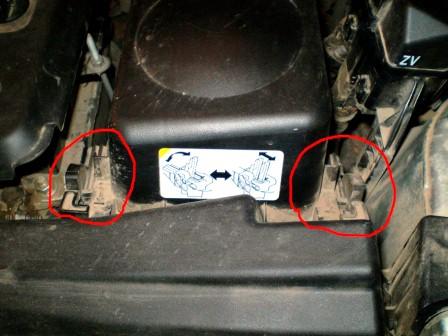 Открываем защелки Toyota Avensis II