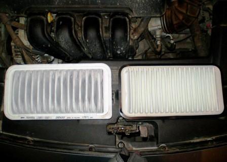 Меняем воздушный фильтр Toyota Avensis II