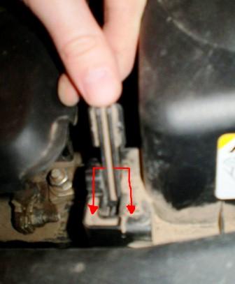 Защелки в вертикальном положении Toyota Avensis II