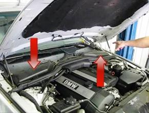Местоположение салонного фильтра BMW e60