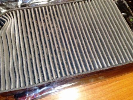Старый салонный фильтр Citroen C4 I