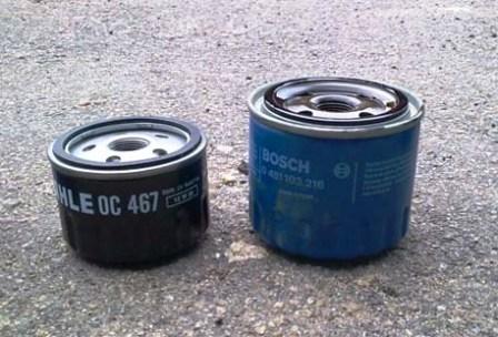 Старый и новый масляные фильтры Renault Kangoo 1