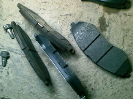 Старые тормозные колодки Daewoo Nexia