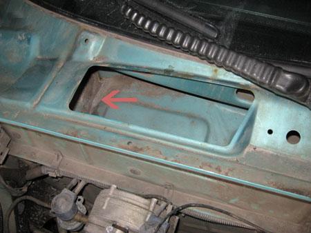 Расположение салонного фильтра Chevrolet Lanos