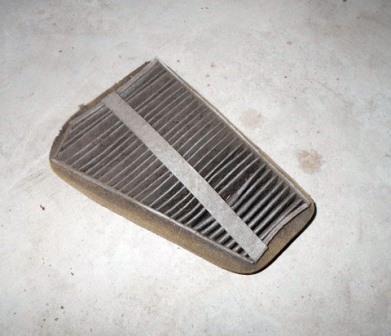 Состояние старого салонного фильтра Chevrolet Lanos