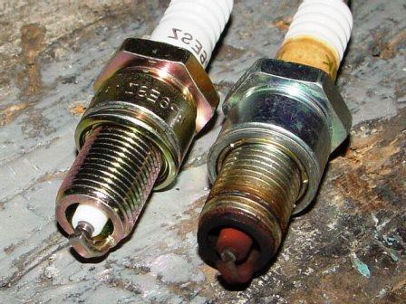 Снятие и замена свечей зажигания в двигателе 1.4 Toyota Corolla E12
