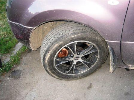 Откручиваем переднее колесо на Renault Duster 2.0