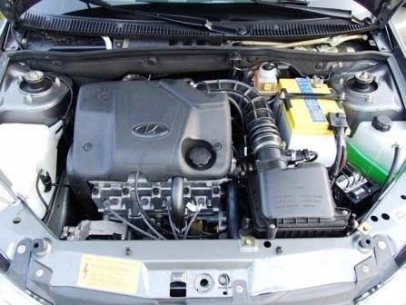 Слив и замена масла в двигателе Лада Калина