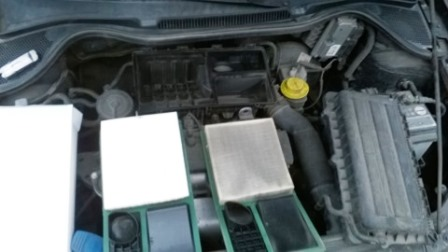 Состояние старого и нового воздушного фильтров Volkswagen Polo Sedan