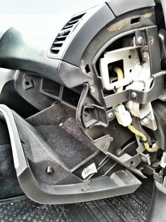Снимаем декоративную панель Subaru Legacy