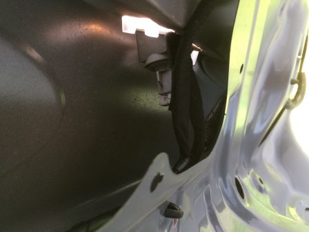 Правый плафон подсветки номера Kia Rio 3