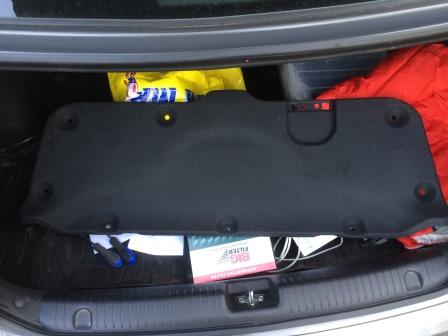 Снятая обшивка багажника Kia Rio 3