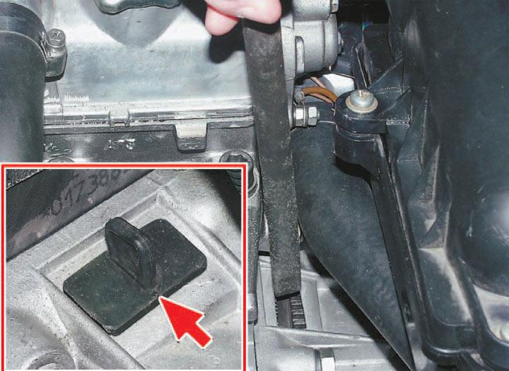 Контрольные метки при демонтаже ремня ГРМ на автомобилях ВАЗ 2113 2114 2115