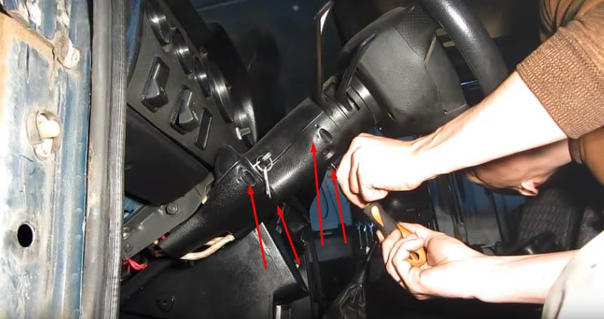 Замена замка зажигания ВАЗ 2107