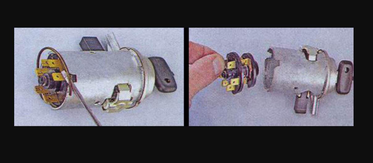 Снятие контактной группы замка зажигания ВАЗ 2107 своими руками