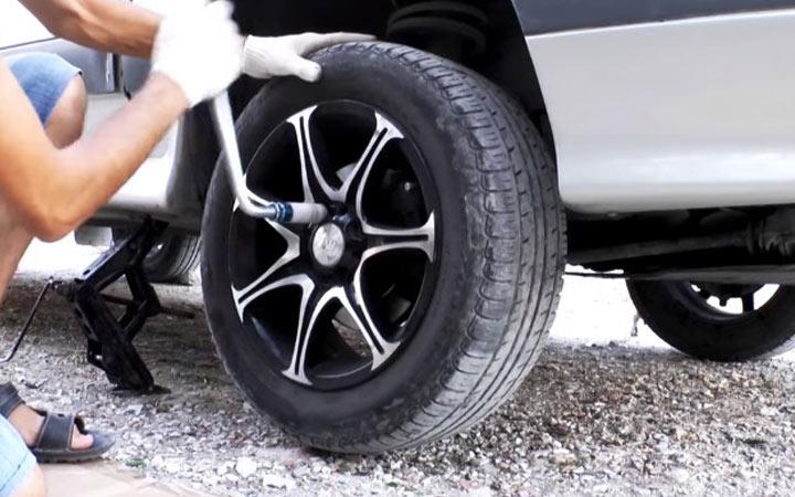 Демонтаж колеса на Ваз 2113, 2114, 2115