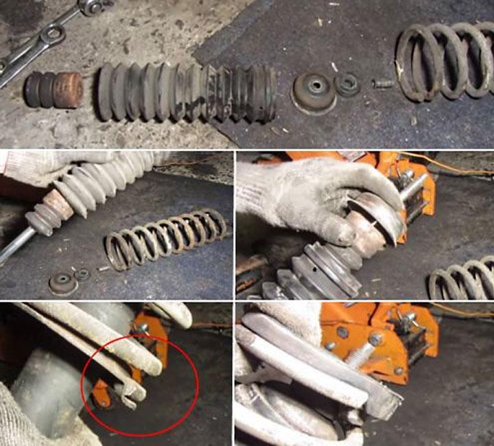 Как самостоятельно заменить задние стойки на ВАЗ 2113, 2114, 2115