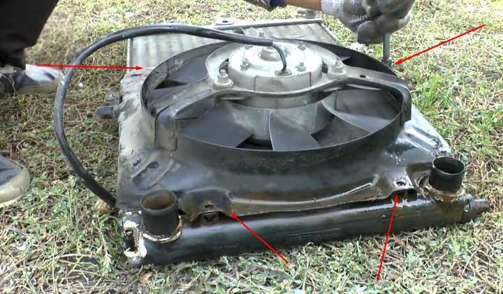 Замена радиатора двигателя на автомобилях ВАЗ 2113, 2114, 2115 (фото инструкция)