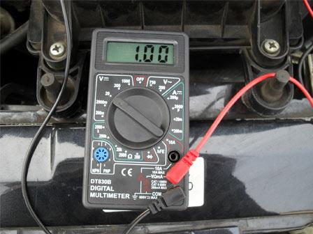 Проверка ДМРВ ВАЗ 2113, 2114, 2115 мультиметром
