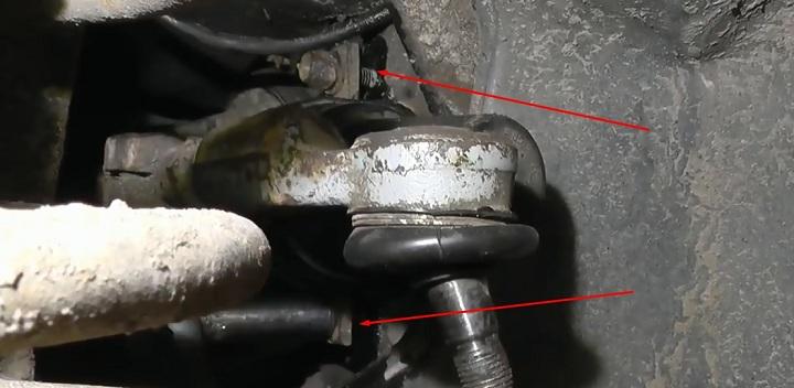 Крепление рулевой рейки ВАЗ 2110
