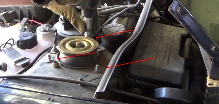 Замена переднего амортизатора ВАЗ 2113, 2114, 2115
