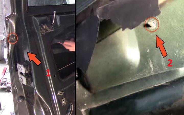 Замена личинки замка двери и багажника на автомобилях ВАЗ 2113, 2114, 2115