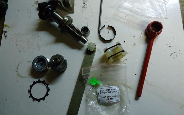 Как произвести ремонт и замену рулевой рейки ВАЗ 2108, 2109, 21099