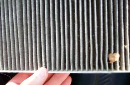 Старый салонный фильтр Mazda 6