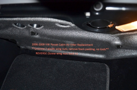 Устанавливаем салонный фильтр Volkswagen Passat B6