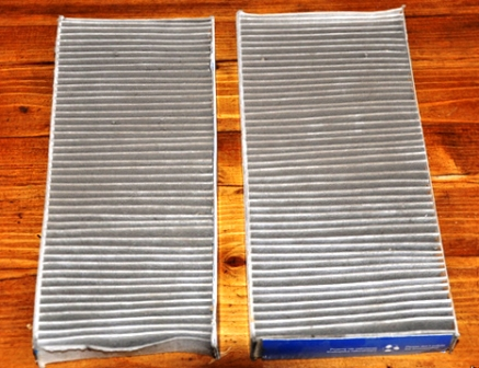Старый и новый салонный фильтры Infinity QX56