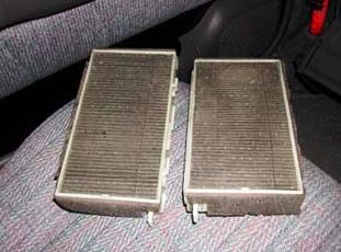 Старые салонные фильтра Honda Civic VII