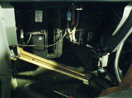 Снимаем металлическую планку Honda Pilot