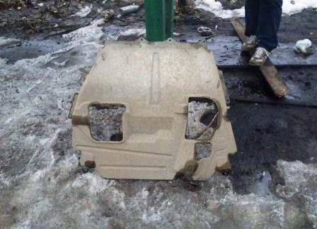 Заводская защита двигателя Лада Гранта